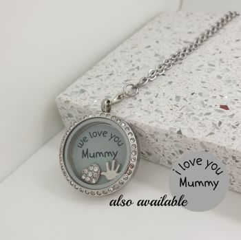 Love Mummy Floating Locket Necklace