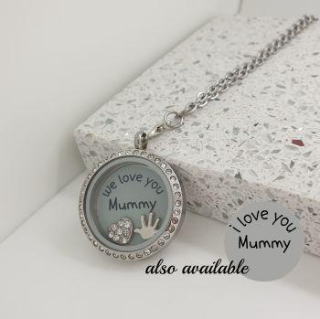Love Mummy Floating Locket Necklace