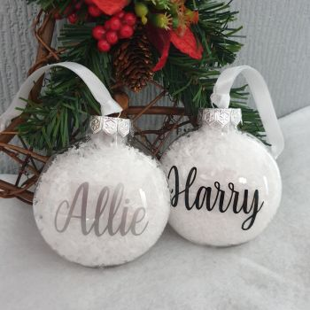 Christmas Bauble Personalised