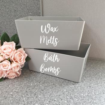 Grey Storage Box Personalised
