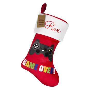 Personalised Gamer Christmas Stocking