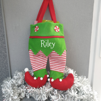 Elf Legs/Pants Treat Bag Red Legs