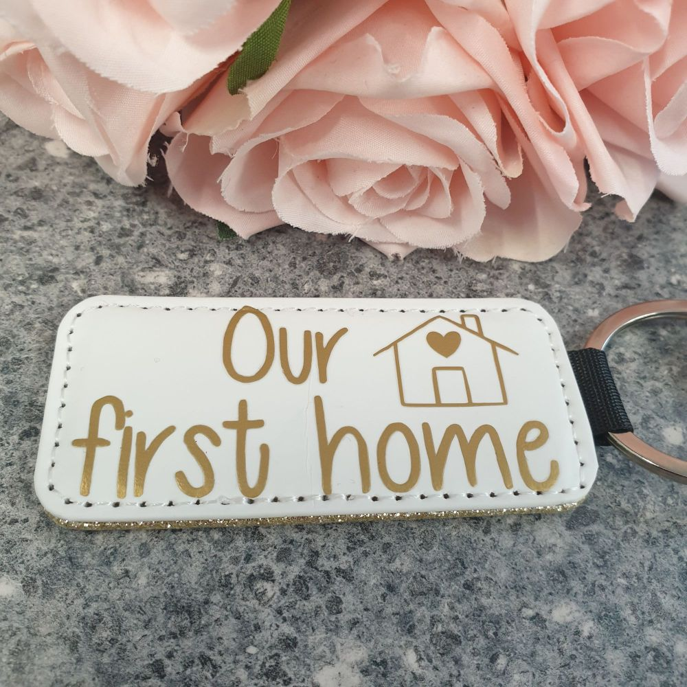 New Home Leather Keyring