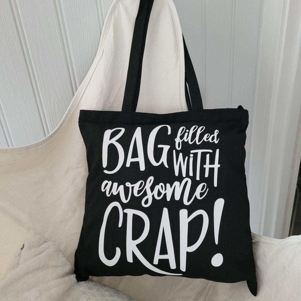 Awesome Crap Reusable Tote Bag