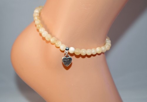 Honey Calcite Anklet