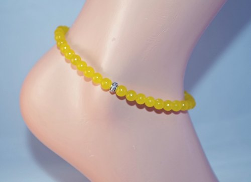 Yellow Jade Anklet