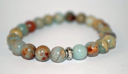 ***NEW*** AMELIE HOPE CRYSTAL HEALING IMPRESSION JASPER BRACELET