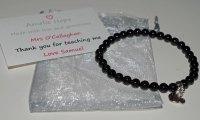 Onyx Teacher Thank you Bracelet