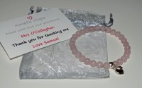 Rose Quartz Teacher Thank you Bracelet