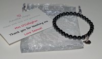 Hematite Teacher Thank you Bracelet