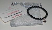 Hematite Teacher Thank you Bracelet
