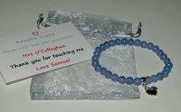 Aquamarine Teacher Thank you Bracelet
