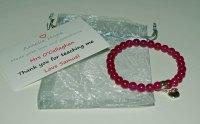 Pink Chalcedony Teacher Thank you Bracelet