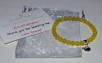 Yellow Chalcedony Teacher Thank you Bracelet