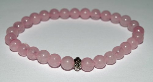 AMELIE HOPE CRYSTAL HEALING ROSE QUARTZ BRACELET