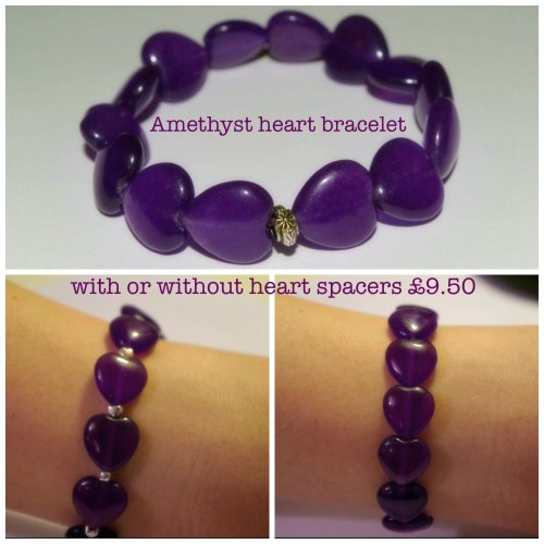 Multi-coloured Amethyst Heart Bracelet