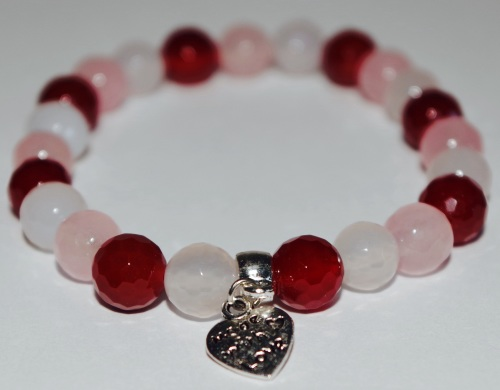 AMELIE HOPE CRYSTAL HEALING FERTILITY PREGNANCY BRACELET **faceted beads**