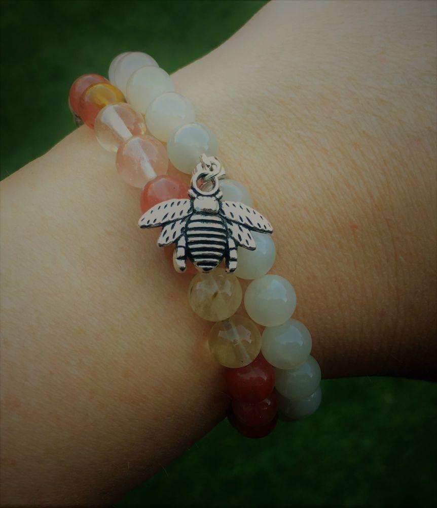 bee on bracelet