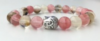 LIBRA WATERMELON TOURMALINE CRYSTAL HEALING BRACELET (September 23 - October 22)