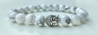 HOWLITE FOR MEN AMELIE HOPE CRYSTAL HEALING BRACELET