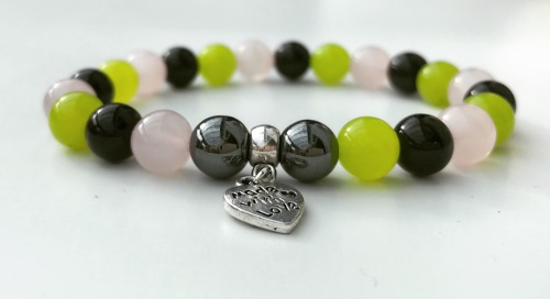 AMELIE HOPE CRYSTAL HEALING BROKEN HEART BRACELET