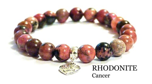 CANCER RHODONITE CRYSTAL HEALING BRACELET