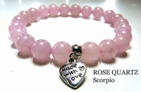 SCORPIO ROSE QUARTZ CRYSTAL HEALING BRACELET (October 23 - November 21)