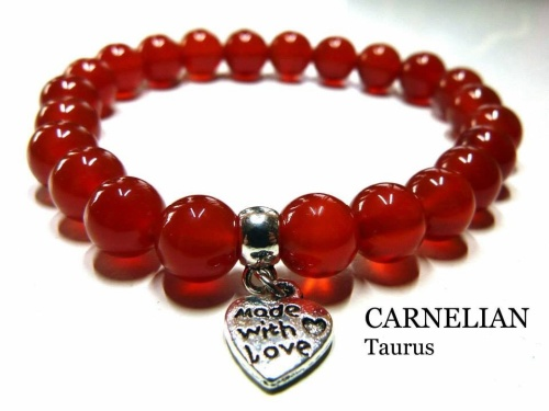 TAURUS CARNELIAN CRYSTAL HEALING BRACELET