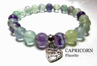 CAPRICORN FLUORITE CRYSTAL HEALING BRACELET (December 22 - January 19)