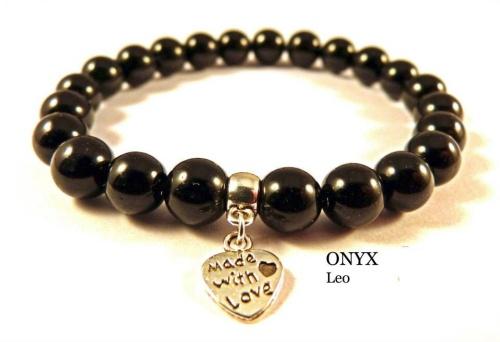 LEO ONYX CRYSTAL HEALING BRACELET