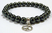 HEMATITE FOR MEN AMELIE HOPE CRYSTAL HEALING BRACELET
