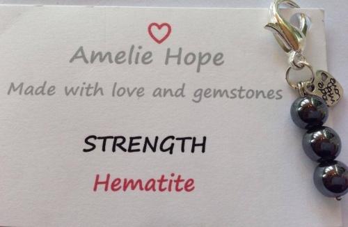3 Bead Charm Hematite