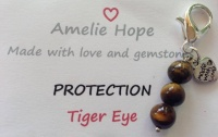 3 Bead Charm Tiger Eye
