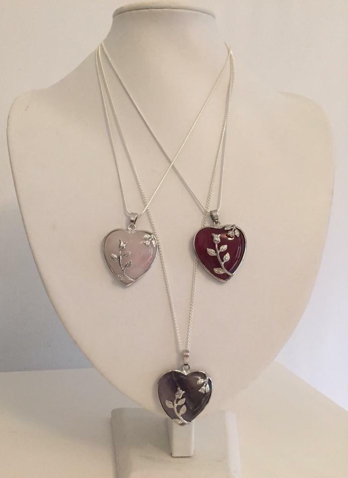 Carnelian Decorative Heart Necklace