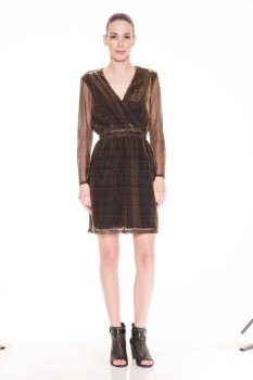 Jane Sparkle Dress - Gold/Silver