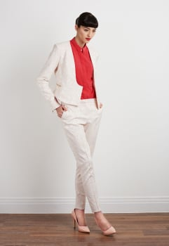 Lindsay Fitted Jacquard Jacket