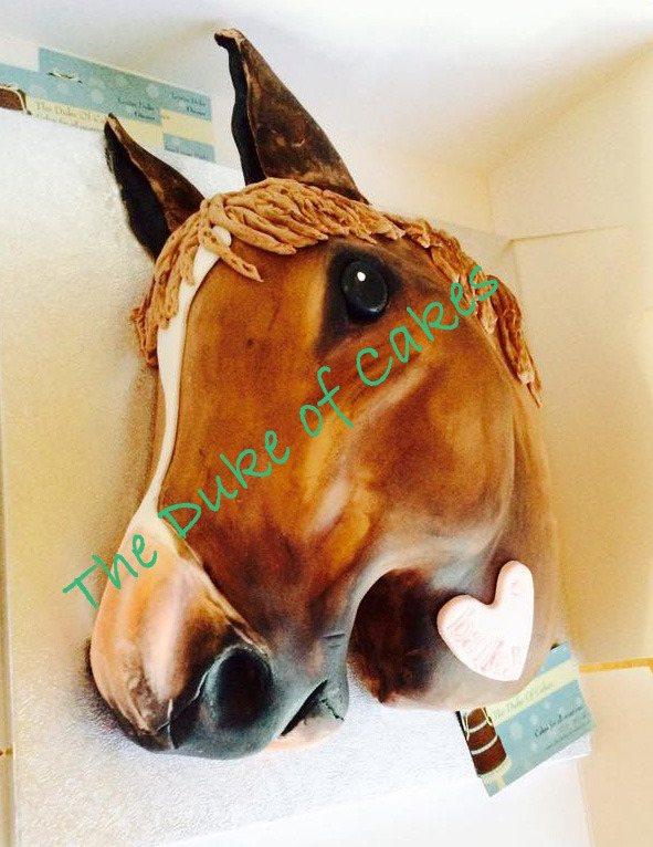 Baileys horse head cake