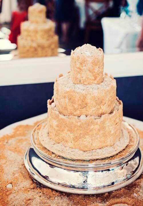 sand castle wedding cakes