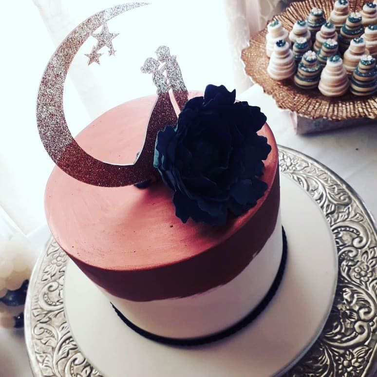 copper wedding cakes