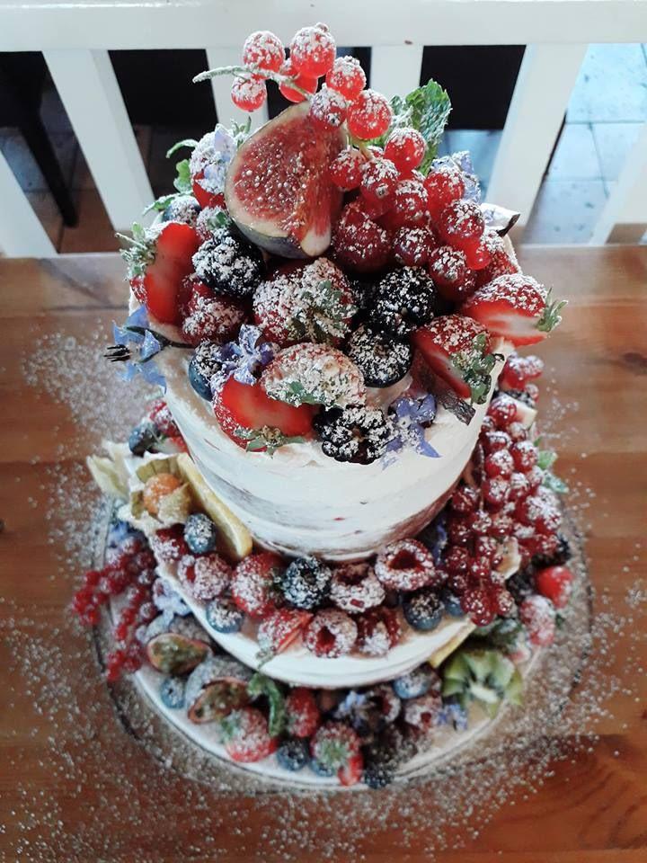 semi naked wedding cakes Bath