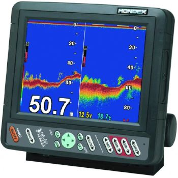 "Hondex HE-881, 8.4"" display fish-finder with bronze transducer"