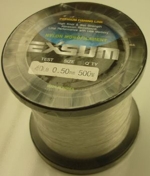 Exsum 0.5mm Mono Line on 500m Spool (40 lbs)