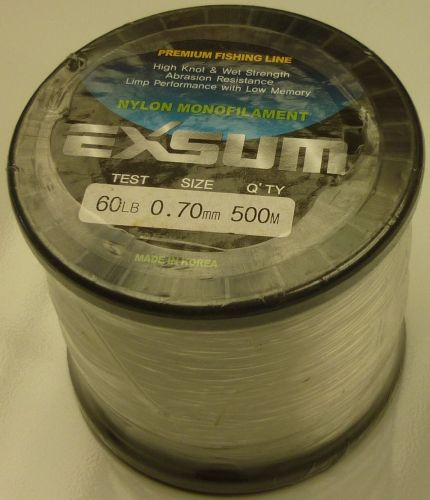Exsum 0.7mm Mono Line on 500m Spool (60 lbs)