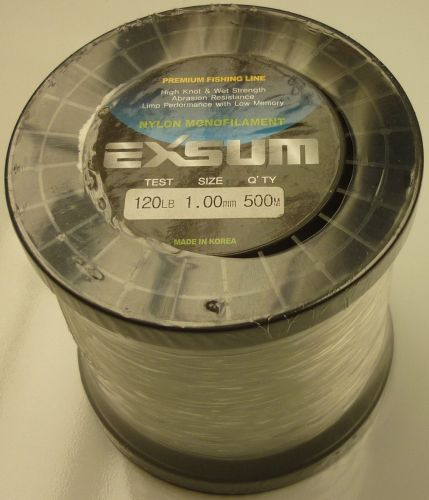 Exsum 1.0mm Mono Line on 500m Spool (120 lbs)