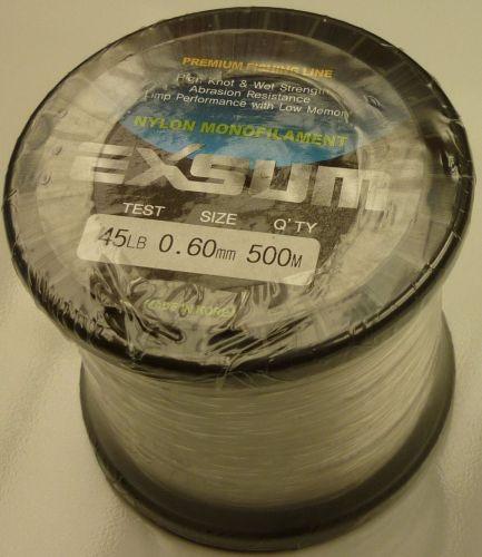 Exsum 0.6mm Mono Line on 500m Spool (45 lbs)