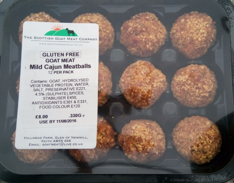 Gluten Free Goat Meatballs