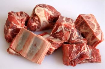 Diced Goat Meat on the Bone