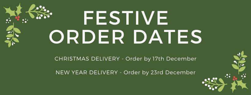 festive order dates