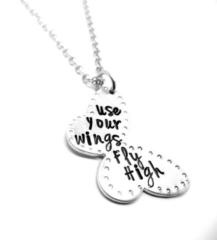 Use your wings, fly high - Butterfly Necklace