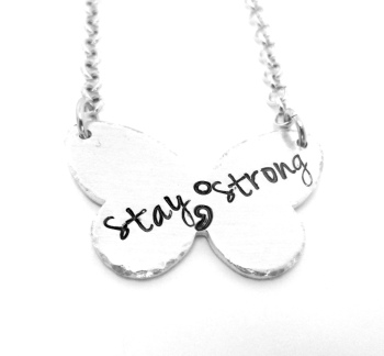 Butterfly - Stay Strong - Semicolon Necklace